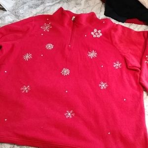 Womens winter embellished fleece 3x